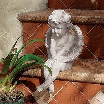 Turn of the Century Replica Meditation Baby Angel Cherub Decorative Statue - $43.51