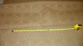 Gold Beige Swirl Print Upholstery Fabric 1 Yard  R217 - $39.95