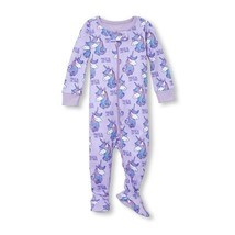NWT The Childrens Place Unicorn Purple Girls Stretchie Footed Sleeper Pajamas - $8.99