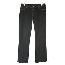 CHICO'S PLATINUM Jeans 1 Dark Wash Mid Rise Straight Leg Stretch Denim 8... - $21.83