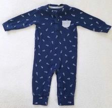 Boy's One Piece Sleeper~  Blue ~ Cotton~  Size 6 Months~  Carters - $8.99