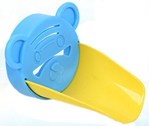 Colorful Water Faucet Extender Extending Faucet Hand Tiger Shape Blue&Yellow