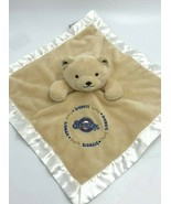 Baby Fanatic Milwaukee Brewers Baseball Teddy Bear Security Blanket Tan ... - $12.99