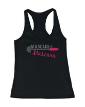 Women's Workout Tanks - Muscles and Mascara Black Cotton Sleeveless Tank... - $14.99+
