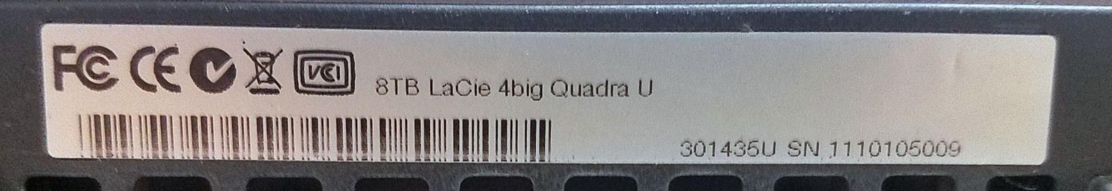 LaCie 4big Quadra Hard Drive Array 8TB (301435U) Bin:SF