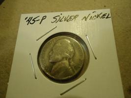 1945-P JEFFERSON SILVER NICKEL        >> L@@K  - $1.98