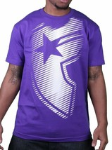 Famous Stars & Straps Mens Purple White Motion BOH Badge of Honor T-Shirt NWT
