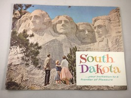 Vintage Retro SOUTH DAKOTA Color Tourism Pamphlet Brochure - $18.58