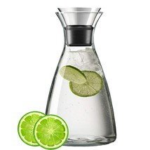 Hwagui - Best Glass Water Carafe With Drip-Free Stainless Steel Filp-Top... - $23.47