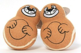 2 Count Fuzzballz Brown Squirrel Squeeze Me I Squeak Bouncing Toy Ball - $17.99