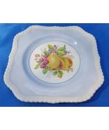 Johnson Bros Square Salad Plate, California Multi Fruit Blue, Discontinued - $7.92