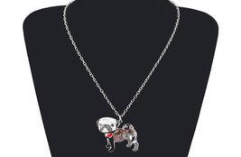Necklaces Pendant Dog Pug Animal Zinc Alloy New Female Fashion Jewelry Accessory image 11