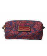 Marc Jacobs Cosmetic Bag Quilted Paisley Narrow Pouch Peacoat NEW - $69.30