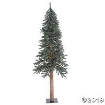 Vickerman 6' Natural Bark Alpine Christmas Tree with Clear Lights - $140.25