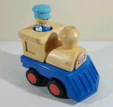 "Toy Quest 2003 Little Tikes Wood & Plastic Toy Train w/ Conductor 5.5"" L x 6"" H - $6.53"