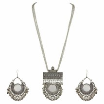 Shining Oxidized Choker with Earrings for Girl and Women a199 - $17.81