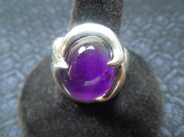 """Sterling Silver Mystic """"Crystal Ball"""" Amethyst Cabachon Ring, Size 9, 11g - $147.02"""