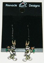 Looney Tunes Bugs Bunny Figure Pair of Enamel Steel Pierced Earrings NEW... - $11.64