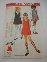 Vintage 70s Girls Size 7 Simplicity jumper pattern 8945 - $11.87