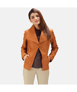 Brown women leather blazer - $180.00+