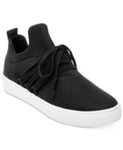 Steve Madden Lancer Casual Sneakers Athleisure Comfy Shoe Black Size 9 - $69.98