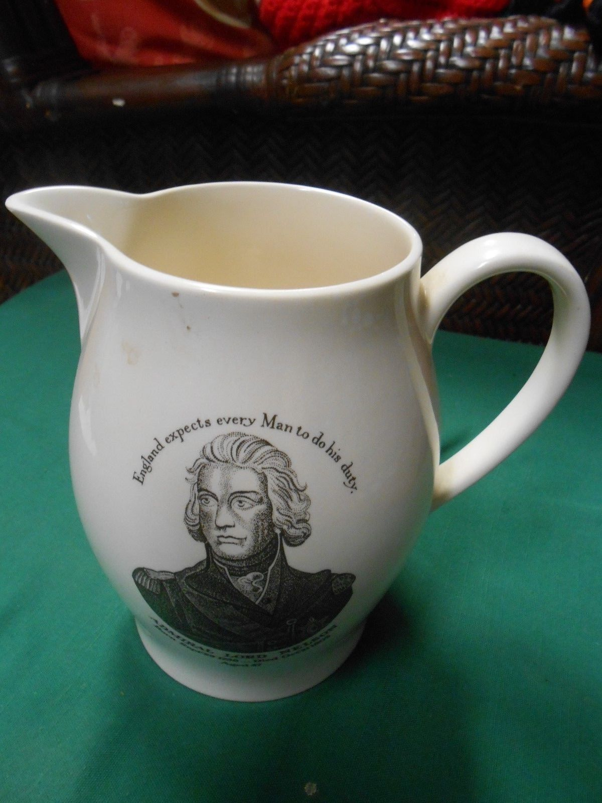 WEDGWOOD Pitcher-Made for American Heritage ADMIRAL LORD NELSON