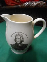 WEDGWOOD Pitcher-Made for American Heritage ADMIRAL LORD NELSON - $34.24