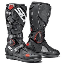 Sidi Crossfire 2 SRS Black Motocross Boots MotoX Off-Road Enduro Leather... - $427.22+