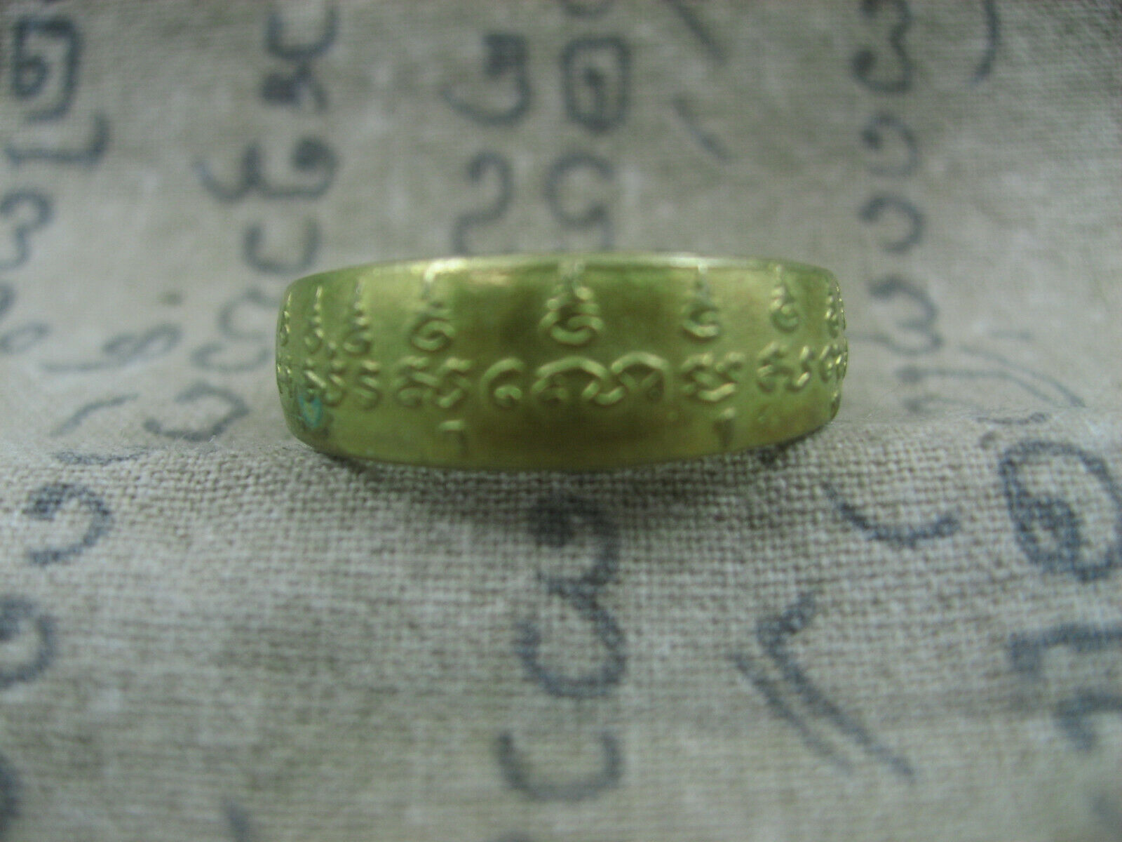 Primary image for HOLY BLESSED HOLY LETTERS YAN MAGIC RING TOP LUCKY POWER RARE THAI BUDDHA AMULET