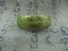 HOLY BLESSED HOLY LETTERS YAN MAGIC RING TOP LUCKY POWER RARE THAI BUDDH... - $39.99