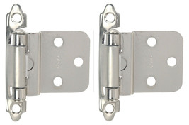 """Hardware House Two Pack 3/8"""" Inset Cabinet Hinge Set, Satin Nickel New Pair - $3.95"""
