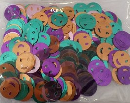 SMILEY SMILE FACES CONFETTI - BIRTHDAY PARTY ANY OCCASION TABLE DECORATI... - £1.75 GBP