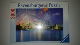 SYDNEY AUSTRALIA AT NIGHT 3000 Piece Puzzle By RAVENSBURG, Made In Germa... - $64.98