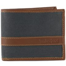 Timberland Men's Hunter Leather Waxed Canvas Credit Card ID Passcase Wallet image 15