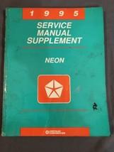 1995 Dodge Chrysler NEON Service Tech Diagnostic Manual Supplement - $14.84