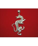Statement Large 925 Sterling Silver Diamond-cut Big Dragon Pendant,Over ... - $149.00