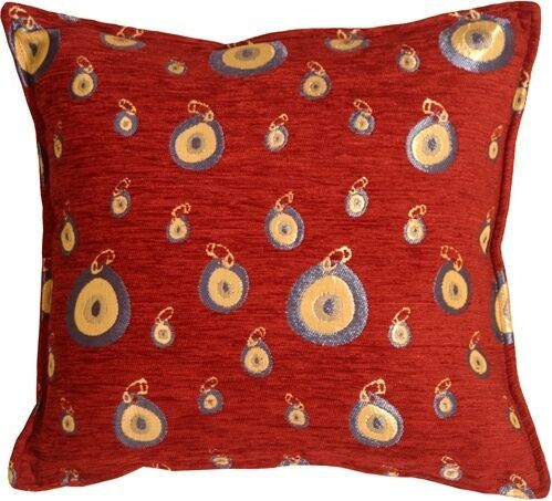 Pillow Decor - Blue Target 17x17 Throw Pillow  - SKU: PA1-0007-01-17