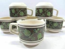 6 Lenox Spanish Swirl Tea Coffee Cups Temper Ware USA Lot of 6 - $23.52