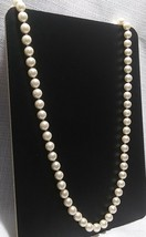 "Vintage Marvella 30"" Hand Knotted Faux Pearl Necklace  - $23.00"