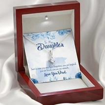 Daughter Gift You are My Miracle Daughter Eternity Ribbon Stone Pendant 14k Whit - $52.20+