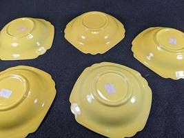 Vintage Homer Laughlin Riviera Yellow Berry Bowls, 5pc. image 3