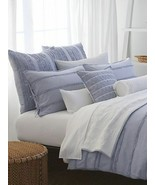 DKNY PURE INNOCENCE Blue Stripe 4P Full Queen Duvet Cover Set - $242.45