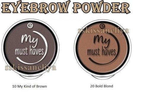 Primary image for Essence my Must Haves Eyebrow Powder 1.8g #20 Bold Blond or #10 My Kind of Brown