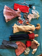 Vintage Ideal 1960's Original Tammy & Tressy Dolls, Labeled Clothes & Extras - $148.49