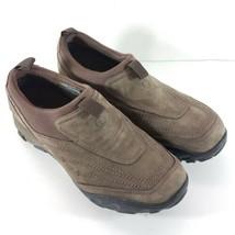Merrell Womens Sz 7.5 M Brown Suede Slip On Loafers Ortholite Waterproof - $45.87