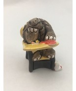 LEPS Turtle At Desk Clay Art Made In Peru Heart Book Grey NEW MINT CONDI... - $9.46