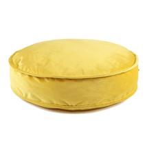 Velvet Pouf for Nursery Floor Cushion Soft Round Throw Pillow Baby Room ... - $78.12