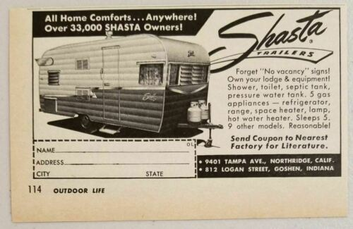 Primary image for 1963 Print Ad Shasta Travel Trailers Over 33,000 Owners