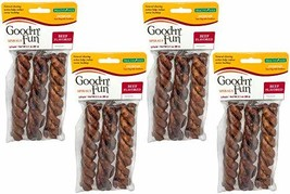 Good n' Fun Beefy Flavored Rawhide Spiral Twists 12 Pack - $18.95