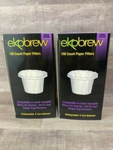 2-Ekobrew Paper Coffee Filters 100 Ct Fits K-cup Keurig Single Brew - $16.45
